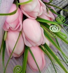 Букет тюльпанов мыльный.