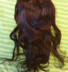 Волосы на заколках ( черные)