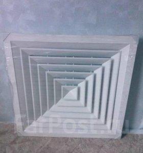 Решетка вентиляционная потолочная 595-595 белая