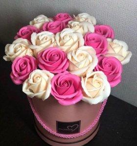 Букет из 21 мыльной розы