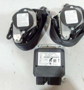Комплект ремней безопасности передние + датчик подушки безопасности  FORD KUGA 16- б/у 1895429 1871299 3*