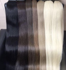 Волосы натуральные на заколках и без