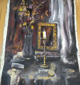 Картина маслом 63*46 см холст