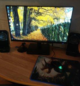 Мощный игровой компьютер + монитор Acer 24