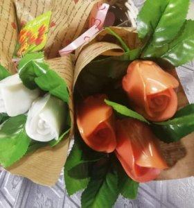 """Мыльные букеты""""Розы""""в наличии 1букет"""