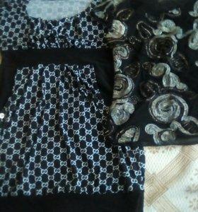 Платье и футболка нарядная