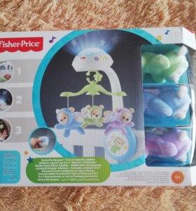 Мобиль в кроватку Fisher Price «Мечты о бабочках»