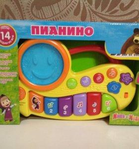 Пианино Маша и медведь новое