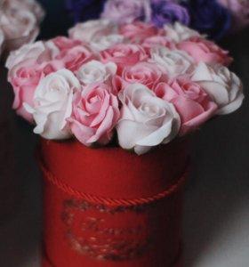 Букет из мыльных роз, мыльные розы