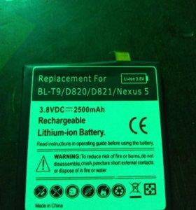 Аккумулятор для телефона Nexus 5