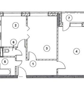 Квартира, 2 комнаты, 65.9 м²