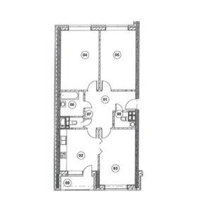 Квартира, 3 комнаты, 92.8 м²