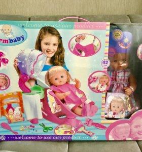 Новая Кукла Салон красоты Парикмахер 42 см набор