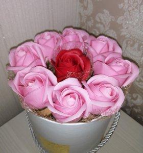 Букет из мыльных роз!