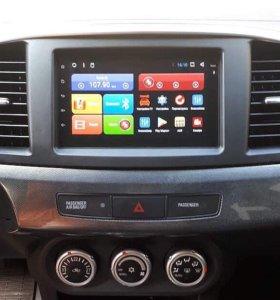Магнитола 2din Android, Wi-Fi, GPS, на lancer X