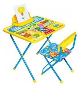 Детская парта + стул, новое в коробке