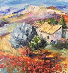 Картина маслом « Полдень в Провансе»