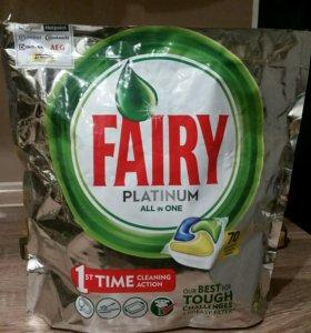 Капсулы Fairy Platinum для посудомойки
