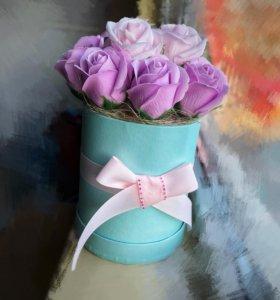 Мыльные розы букет подарок