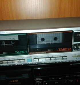 Двух кассетная дека Sharp RT 1010.+25 кассет.