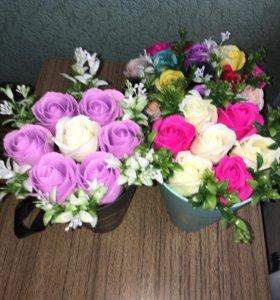 Букеты из мыльных роз!