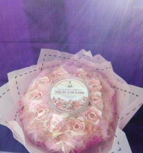 Букет с мыльными розами