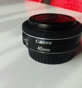 Объектив 40 мм. Canon f 2.8 Ef.