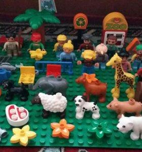 Лего дупло человечки, животные