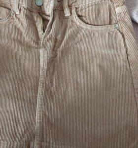 Новая розовая юбка бершка XS бронь