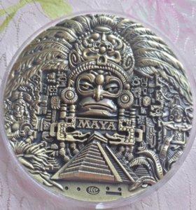 Резной жетон майя