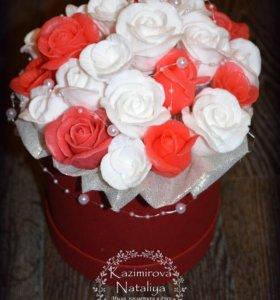 Мыльные букеты из роз на заказ
