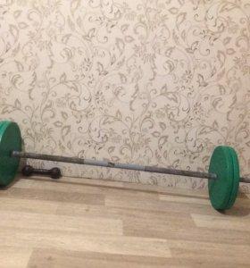 штанга общий вес 50 кг