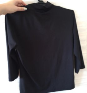 Водолазка, кож.юбка, футболка