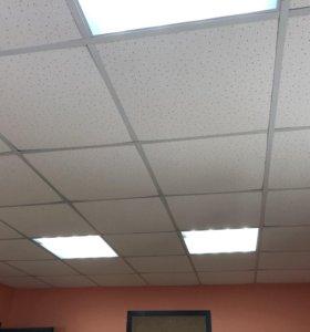 Потолок армстронг 25 м2 с каркасом