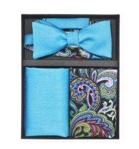 Набор №18 (галстук-бабочка, платок, запонки)