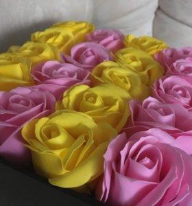 Букеты из долговечных мыльных роз