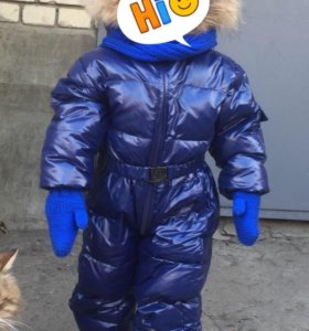 Зимний комбинезон Moncler и сапожки Адидас 🔥