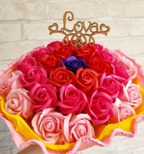 Букет из мыльных роз -вечный