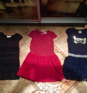 Три нарядных платья для девочки 140-146 из Англии