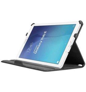 Обложка SAMSUNG Galaxy Tab E 9.6 черная и коричнев