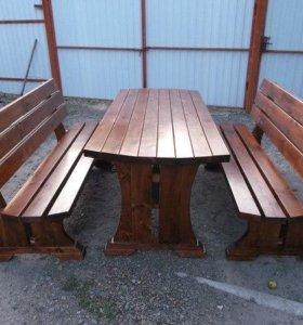 Скамейки, столы, лавочки