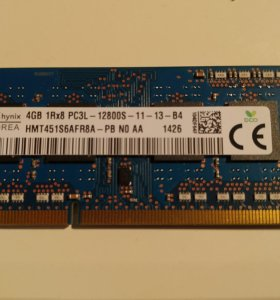 Оперативная память Hynix DDR3L 1600 SODIMM 4Gb