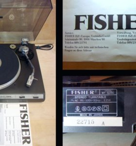 Fisher Direct Drive Turntable MT-6330 + ST-35VD