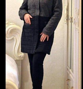 Новое теплое пальто - куртка 46 48 50