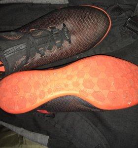 бутсы Adidas X Tango 17.3 IC коричневый оранжевый