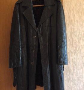 Мужское пальто из натуральной кожи