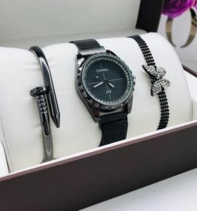 Набор Chanel - часы + браслеты