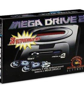 Игровая приставка Sega MD-2 (2 джойстика+38 игр в