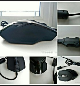 Игровая компьютерная мышь с подсветкой + коврик