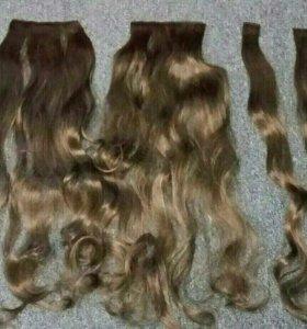 Трессы(волосы искуств.на заколках)